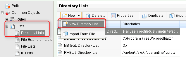directory lists