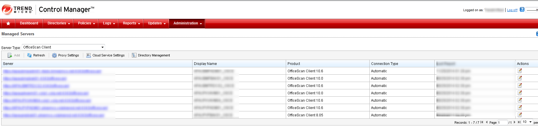 Trend OfficeScan Control Manager