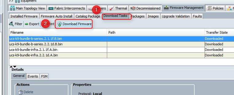 Cisco UCS Download firmware