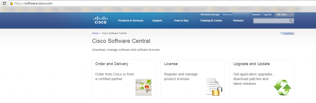 cisco ucs download firmware software