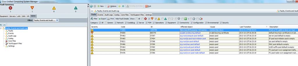 cisco ucs firmware upgrade fault check