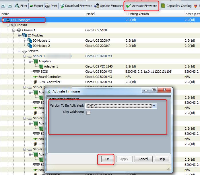 cisco ucs firmware upgrade activate firmware