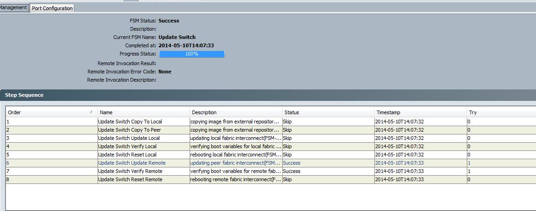 cisco ucs firmware upgrade activate firmware FSM tab