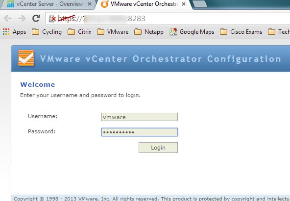 vco config login