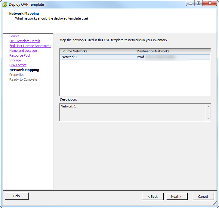 vco deploy ova template network setting