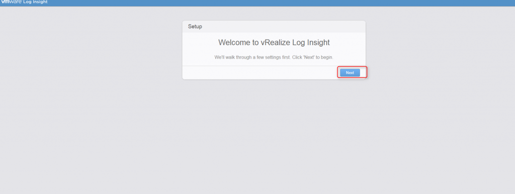 vrealize log insight installation step 17