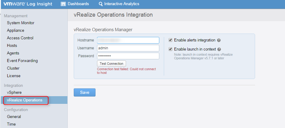 vrealize log insight installation step 26