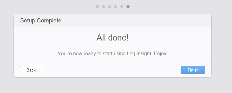vrealize log insight installation step 22