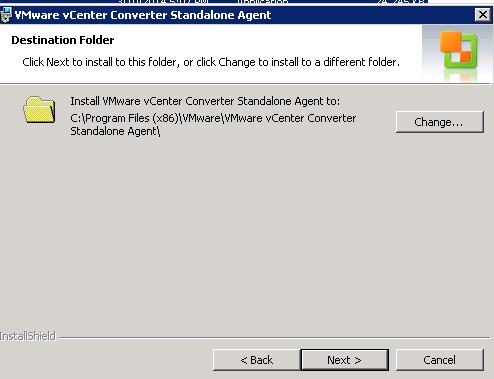 vCenter Server P2V Step 22