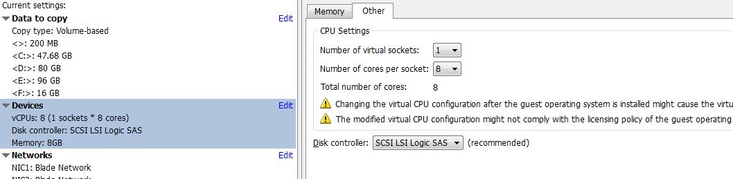 vCenter Server P2V Step 32