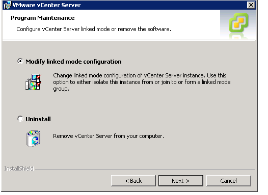 vCenter Upgrade Break Linked Mode Step 3