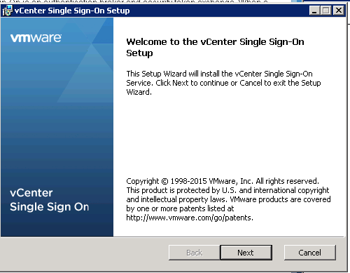 vCenter Upgrade SSO Upgrade Step 3