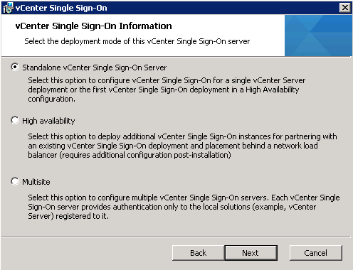 vCenter Upgrade SSO Upgrade Step 6