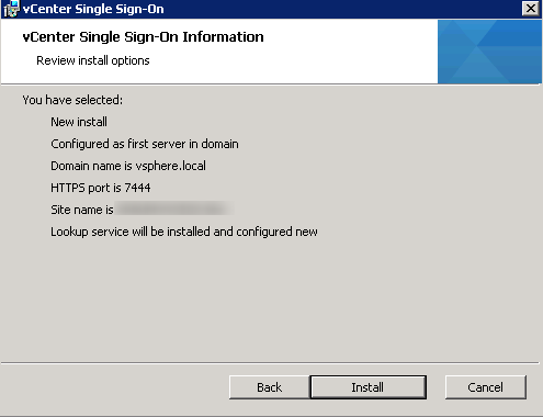 vCenter Upgrade SSO Upgrade Step 11