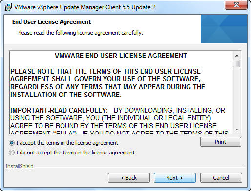 vCenter Update Manager installation Step 18