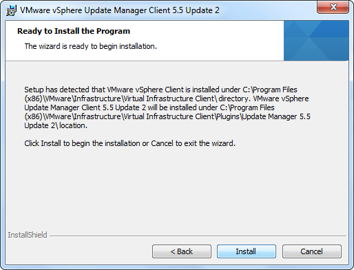 vCenter Update Manager installation Step 19