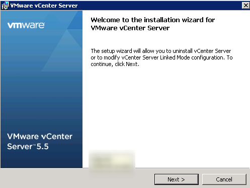 vCenter Linked Mode Join Step 1