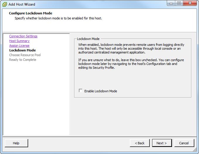 Add host lockdown mode