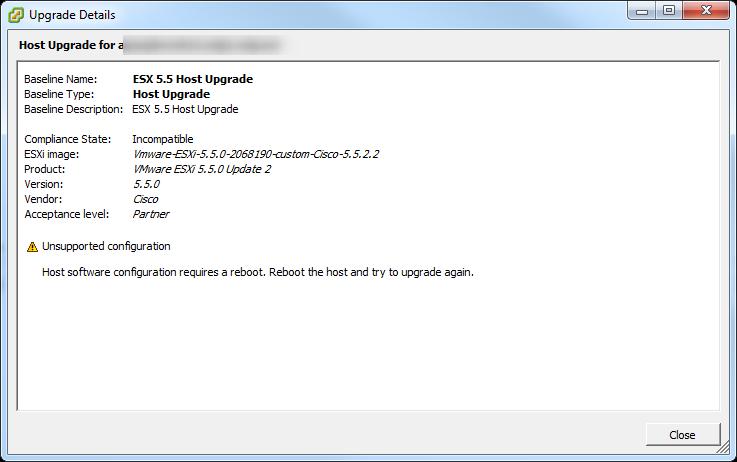 Update Manager Host Upgrade