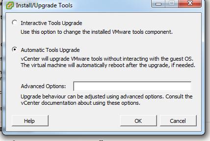Upgrade VMware Tools Upgrade