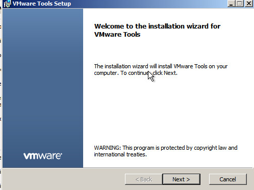 Upgrade VMware Tools Step 4