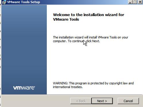 Upgrade VMware Tools Step 4