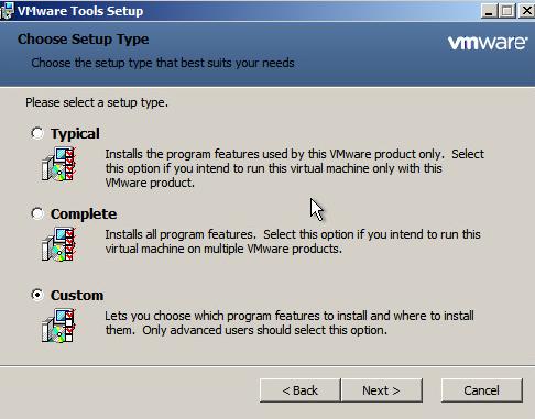Upgrade VMware Tools Step 5