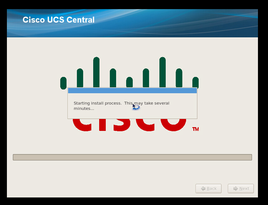 UCS Central Upgrade screen