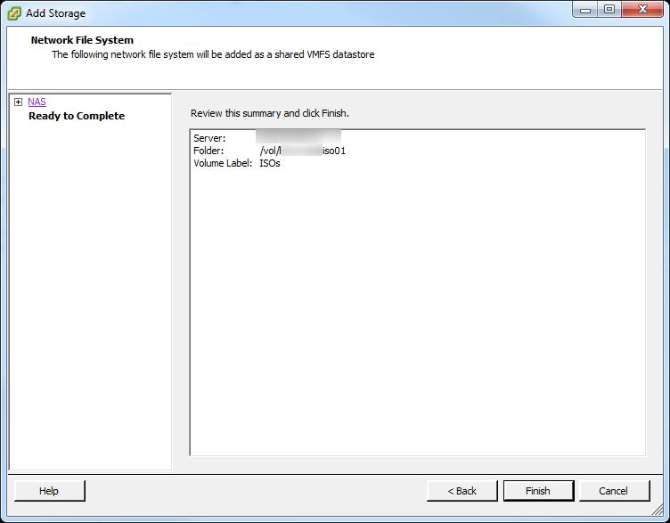 Add NFS Datastore