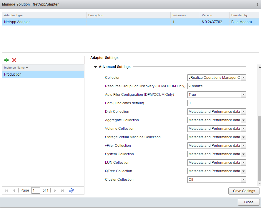 Blue Medora Netapp Management Pack Install Step 9