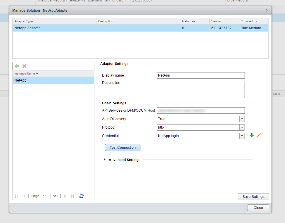 Blue Medora Netapp Management Pack Install Step 8