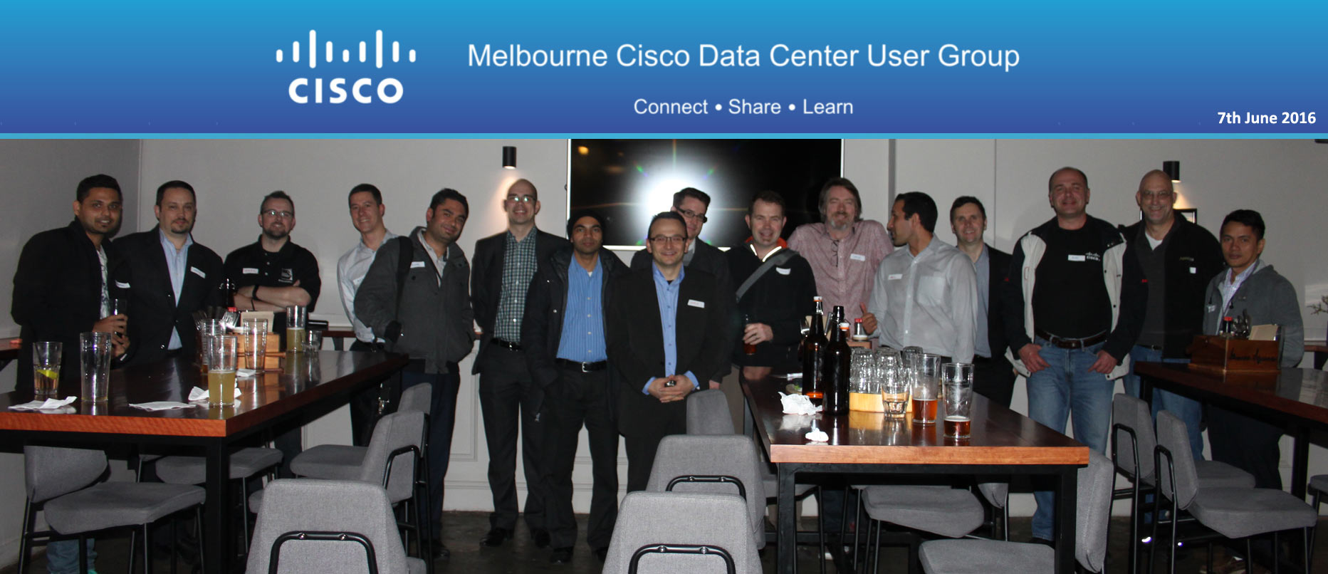 Cisco DCUG Melbourne Members photo