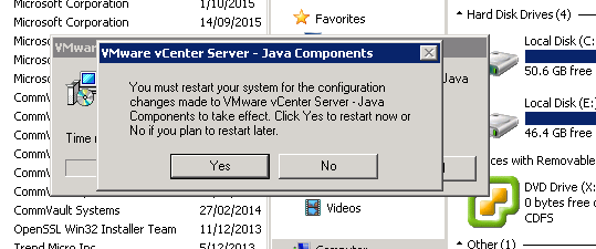 java component uninstall step 3