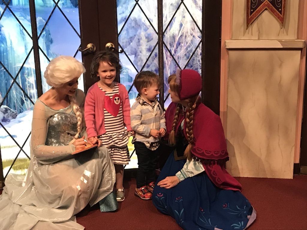 With Elsa and Anna
