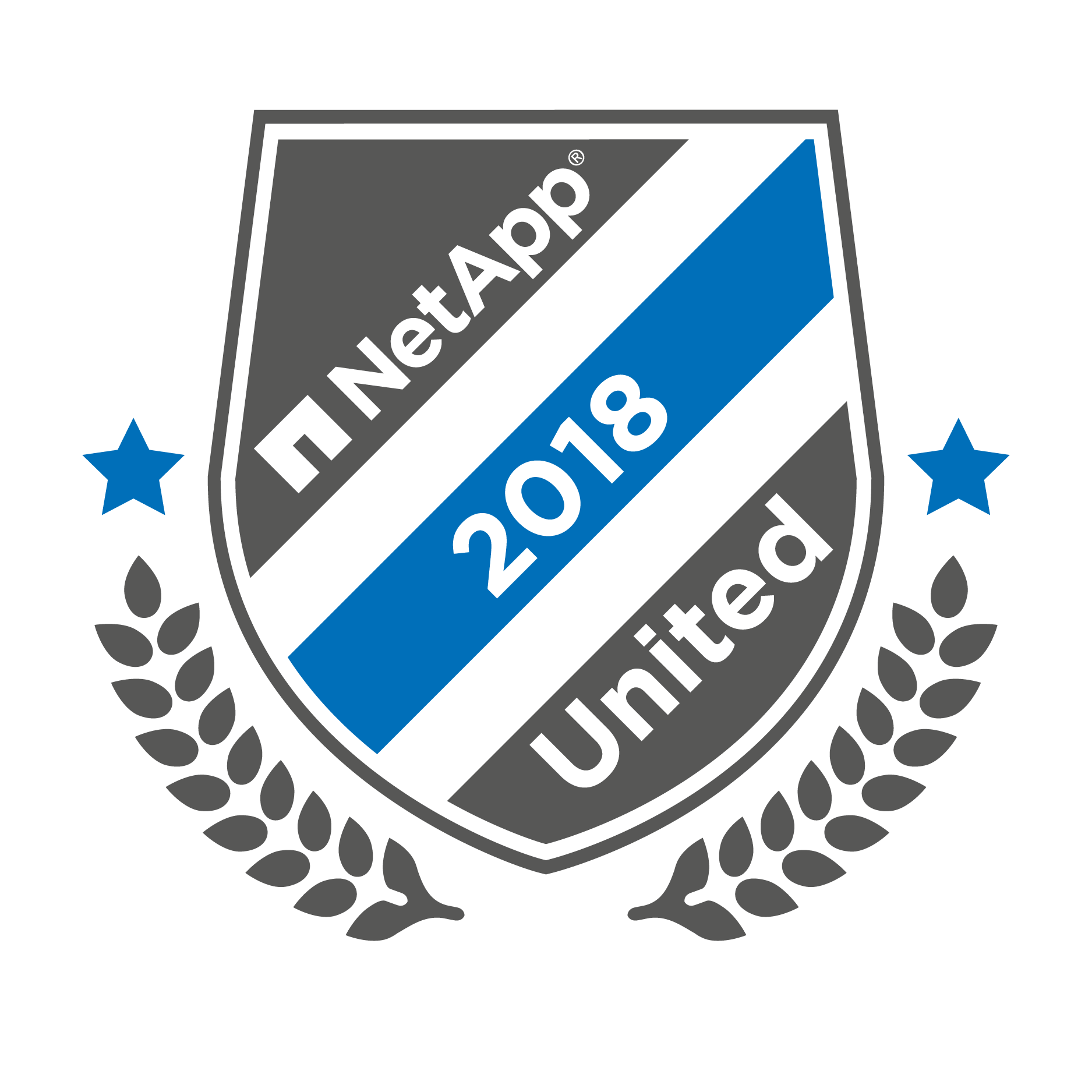 NetApp United Digital Badge white