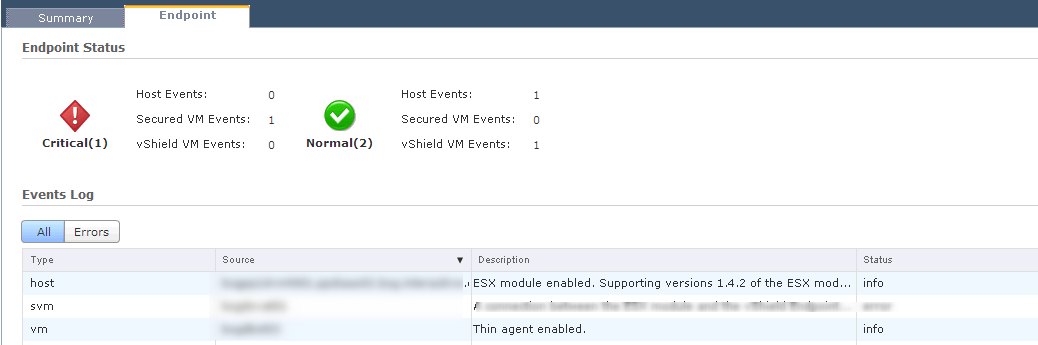 vShield Manager Endpoint 1