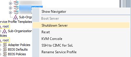 cisco ucs shutdown server