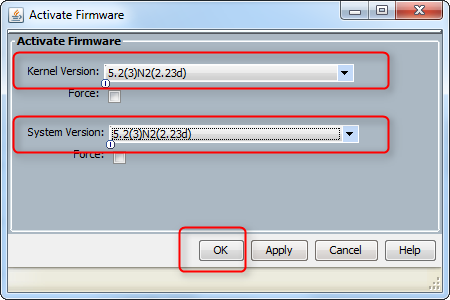 cisco ucs firmware upgrade activate firmware version