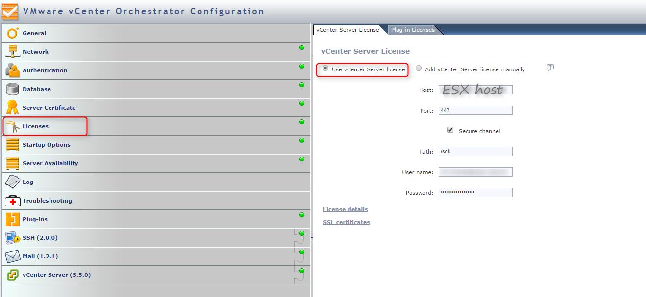 vco esxi host license