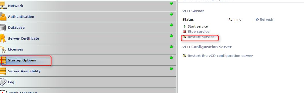 vco restart services
