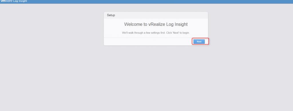 vrealize log insight installation step 17