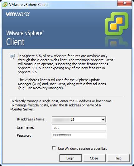 vCenter Server P2V Step 2