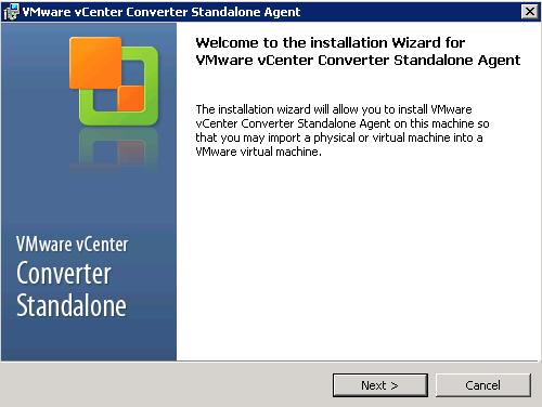 vCenter Server P2V Step 19