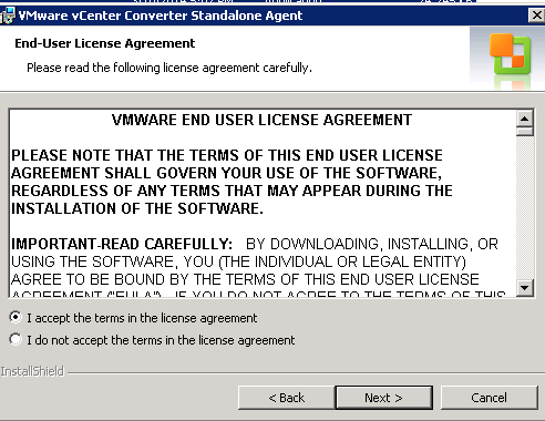 vCenter Server P2V Step 21