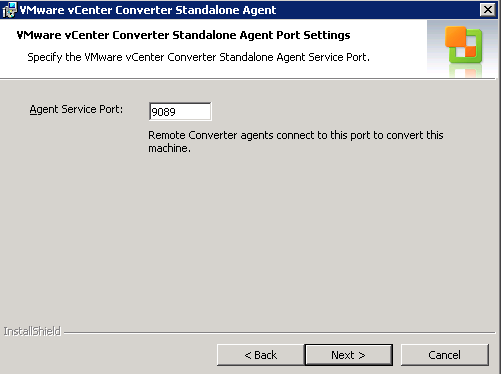 vCenter Server P2V Step 23