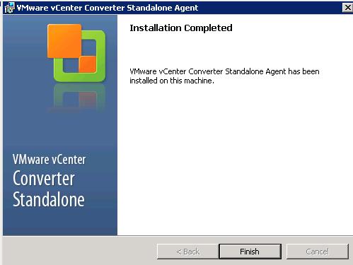 vCenter Server P2V Step 25