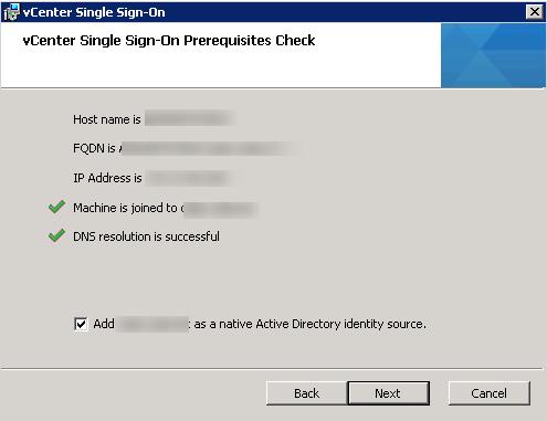 vCenter Upgrade SSO Upgrade Step 5