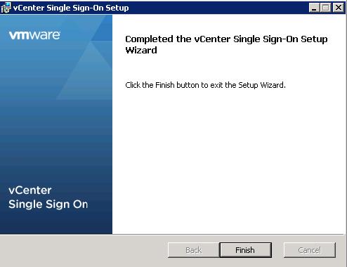 vCenter Upgrade SSO Upgrade Step 13