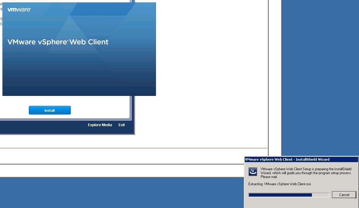vCenter Upgrade Web-Client Upgrade Step 3