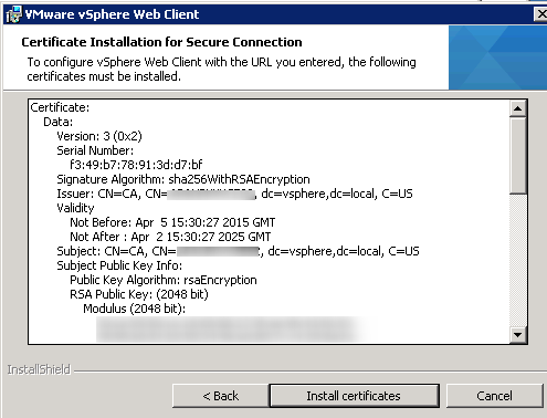 vCenter Upgrade Web-Client Upgrade Step 9